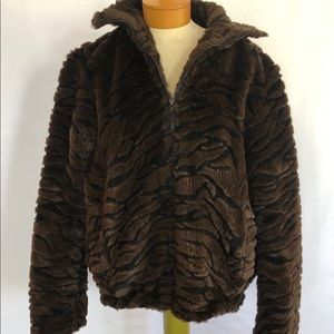 Frankly My Dear vintage 80s zebra faux fur coat